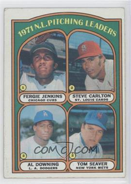 1972 Topps - [Base] #93 - 1971 N.L. Pitching Leaders (Fergie Jenkins, Steve Carlton, Al Downing, Tom Seaver) [Good to VG‑EX]