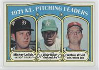 1971 A.L. Pitching Leaders (Mickey Lolich, Vida Blue, Wilbur Wood)