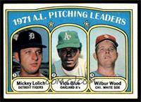 1971 A.L. Pitching Leaders (Mickey Lolich, Vida Blue, Wilbur Wood) [EXMT]