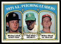 1971 A.L. Pitching Leaders (Mickey Lolich, Vida Blue, Wilbur Wood) [NM]
