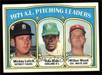 1971 A.L. Pitching Leaders (Mickey Lolich, Vida Blue, Wilbur Wood) [EX]