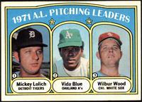 1971 A.L. Pitching Leaders (Mickey Lolich, Vida Blue, Wilbur Wood) [VGEX]