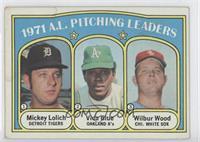1971 A.L. Pitching Leaders (Mickey Lolich, Vida Blue, Wilbur Wood) [Poort…