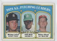 1971 A.L. Pitching Leaders (Mickey Lolich, Vida Blue, Wilbur Wood) [Goodt…