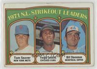 1971 N.L. Strikeout Leaders (Tom Seaver, Fergie Jenkins, Bill Stoneman) [Poor&n…