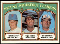1971 N.L. Strikeout Leaders (Tom Seaver, Fergie Jenkins, Bill Stoneman) [EX&nbs…
