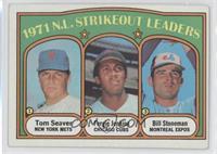 1971 N.L. Strikeout Leaders (Tom Seaver, Fergie Jenkins, Bill Stoneman) [Good&n…