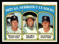 A.L. Strikeout Leaders (Mickey Lolich, Vida Blue, Joe Coleman) [EX]