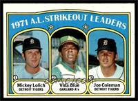 A.L. Strikeout Leaders (Mickey Lolich, Vida Blue, Joe Coleman) [EXMT]