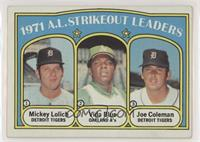 A.L. Strikeout Leaders (Mickey Lolich, Vida Blue, Joe Coleman) [Goodto&nb…