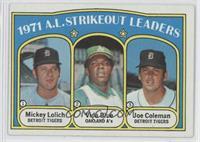 A.L. Strikeout Leaders (Mickey Lolich, Vida Blue, Joe Coleman)