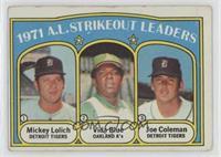 A.L. Strikeout Leaders (Mickey Lolich, Vida Blue, Joe Coleman) [Poorto&nb…