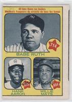 Babe Ruth, Hank Aaron, Willie Mays