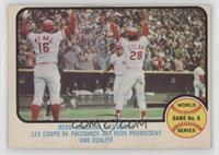 Cincinnati Reds Team, Johnny Bench, Denis Menke, Bobby Tolan