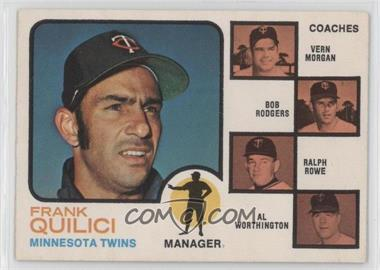 1973 O-Pee-Chee - [Base] #49 - Frank Quilici, Vern Morgan, Bob Rodgers, Ralph Rowe, Al Worthington