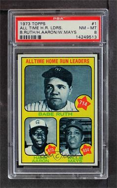 1973 Topps Base 1 All Time Home Run Leaders Babe