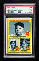 All Time Home Run Leaders (Babe Ruth, Hank Aaron, Willie Mays) [PSA7…