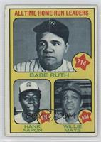 All Time Home Run Leaders (Babe Ruth, Hank Aaron, Willie Mays) [Poorto&nb…