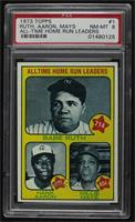 All Time Home Run Leaders (Babe Ruth, Hank Aaron, Willie Mays) [PSA 8 …