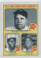 All Time Home Run Leaders (Babe Ruth, Hank Aaron, Willie Mays) [Goodto&nb…