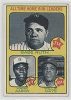 All Time Home Run Leaders (Babe Ruth, Hank Aaron, Willie Mays) [Poor to&nb…
