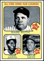 All Time Home Run Leaders (Babe Ruth, Hank Aaron, Willie Mays) [NM]