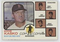 Eddie Kasko, Doug Camilli, Don Lenhardt, Eddie Popowski, Lee Stange (brown tint)
