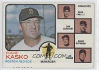 Eddie Kasko, Doug Camilli, Don Lenhardt, Eddie Popowski, Lee Stange (brown tint…