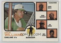 A's Coaches (Dick Williams, Jerry Adair, Vern Hoscheit, Irv Noren, Wes Stock) (…