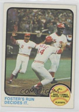 1973 Topps - [Base] #202 - N.L. Playoffs (Foster's Run Decides It.)