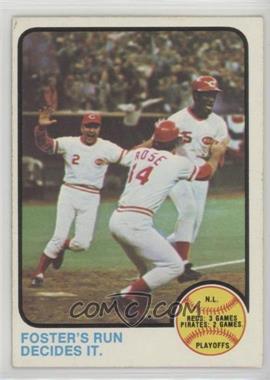 1973 Topps - [Base] #202 - N.L. Playoffs (Foster's Run Decides It.) [GoodtoVG‑EX]
