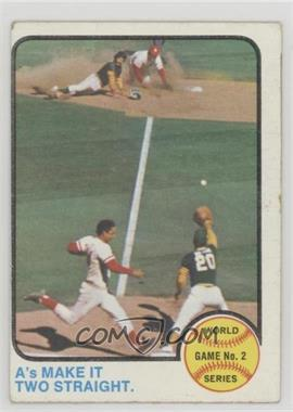 1973 Topps - [Base] #204 - World Series Game 2 (A's Make It Two Straight) [GoodtoVG‑EX]