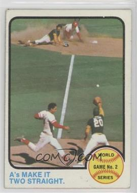 1973 Topps - [Base] #204 - World Series Game 2 (A's Make It Two Straight) [Poor to Fair]