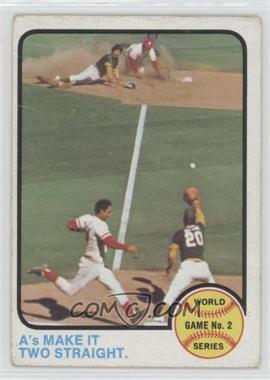 1973 Topps - [Base] #204 - World Series Game 2 (A's Make It Two Straight) [Good to VG‑EX]