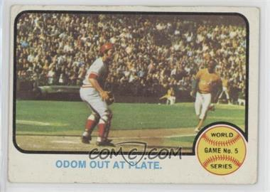 1973 Topps - [Base] #207 - World Series Game 5 (Odom Out at Plate) [GoodtoVG‑EX]