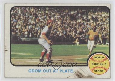1973 Topps - [Base] #207 - World Series Game 5 (Odom Out at Plate) [Poor]