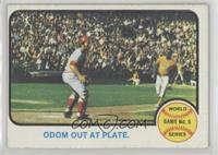 World Series Game 5 (Odom Out at Plate)