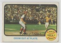 World Series Game 5 (Odom Out at Plate) [Poor]