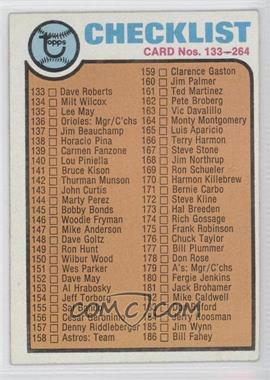 1973 Topps - [Base] #264 - Checklist