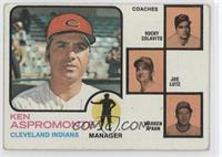 Ken Aspromonte, Rocky Colavito, Warren Spahn, Joe Lutz (orange background)