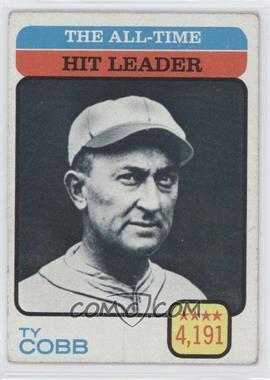 1973 Topps - [Base] #471 - Ty Cobb (All-Time Hit Leader)