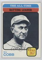 Ty Cobb (All-Time Batting Leader)