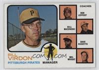 Bill Virdon (Mel Wright, Dave Ricketts, Bill Mazeroski, Don Leppert) (Mazeroski…