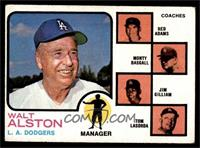 Walt Alston, Red Adams, Monty Basgall, Jim Gilliam, Tom Lasorda [VG EX]