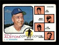 Walt Alston, Red Adams, Monty Basgall, Jim Gilliam, Tom Lasorda [GOOD]