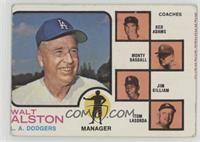 Walt Alston, Red Adams, Monty Basgall, Jim Gilliam, Tom Lasorda [Poor to&n…