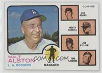 Walt Alston, Red Adams, Monty Basgall, Jim Gilliam, Tom Lasorda