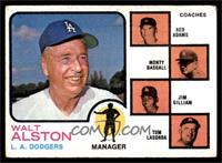 Walt Alston, Red Adams, Monty Basgall, Jim Gilliam, Tom Lasorda [VG]