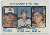 1973 Rookie Pitchers (Jimmy Freeman, Charlie Hough, Hank Webb) [Poor to&nb…