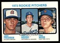 1973 Rookie Pitchers (Jimmy Freeman, Charlie Hough, Hank Webb) [EX]